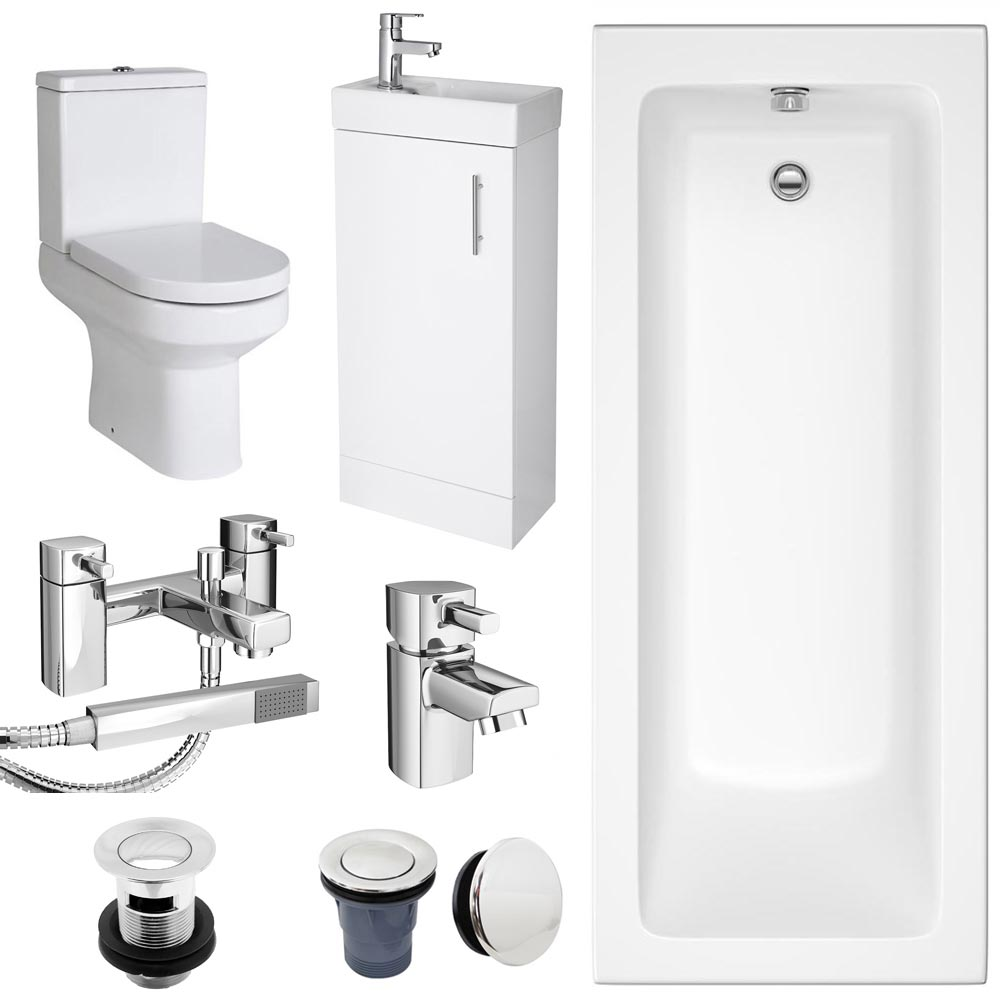 Minimalist Compact Complete Bathroom Package profile large image view 1