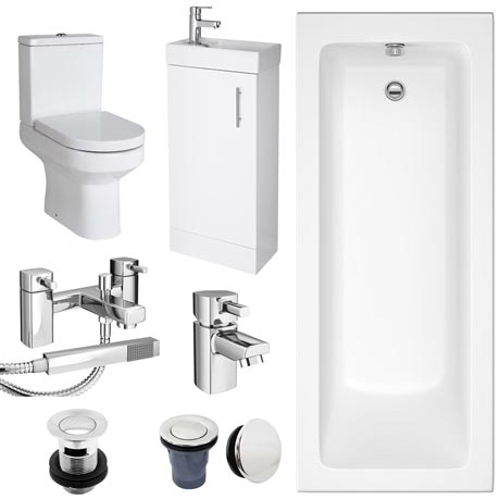 Minimalist Compact Complete Bathroom Package