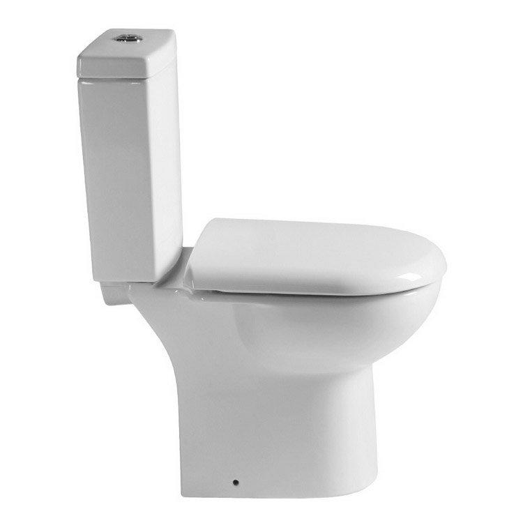 Minimalist Compact Floor Standing Vanity Unit + Knedlington Close Coupled Toilet profile large image view 2