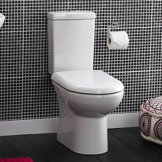 Minimalist Compact Floor Standing Vanity Unit + Knedlington Close Coupled Toilet profile large image view 3