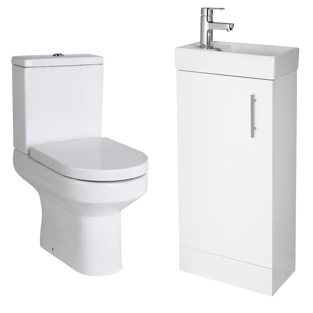Minimalist Floor Standing Cloakroom Suite profile large image view 2