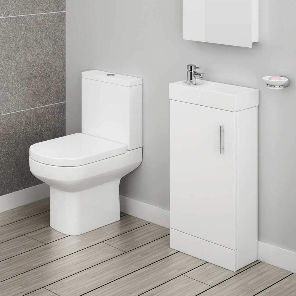 Minimalist Floor Standing Cloakroom Suite profile large image view 1