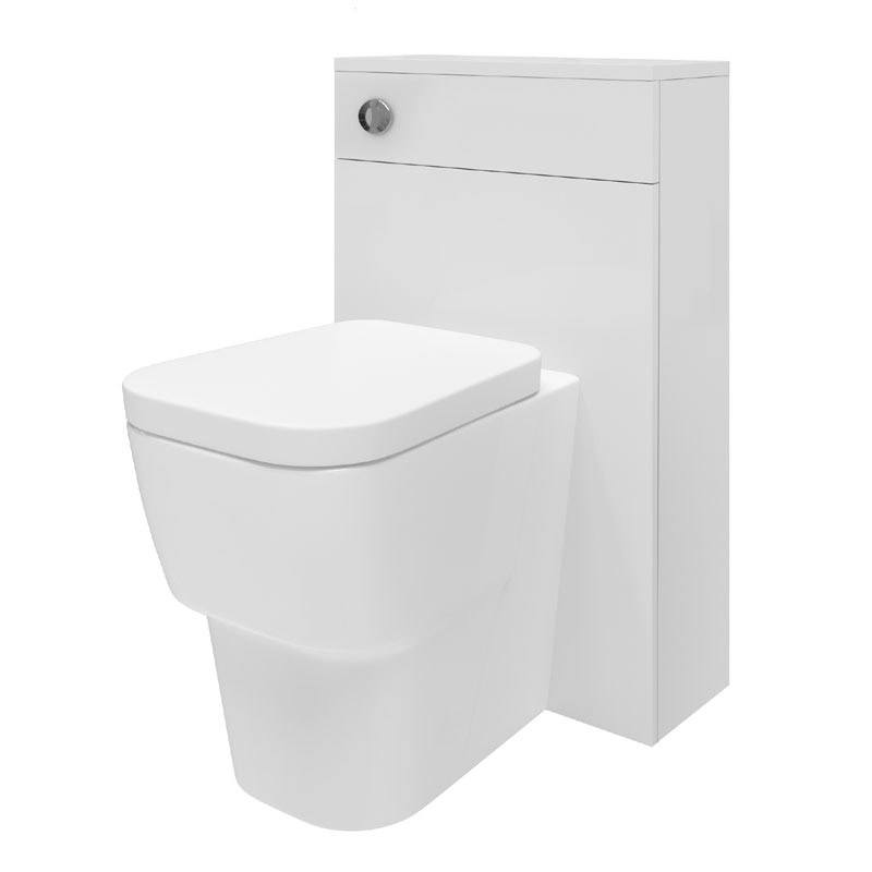 Minimalist Mid Edge Basin Gloss White Vanity Unit Bathroom Suite W1110 x D400/200mm profile large image view 3