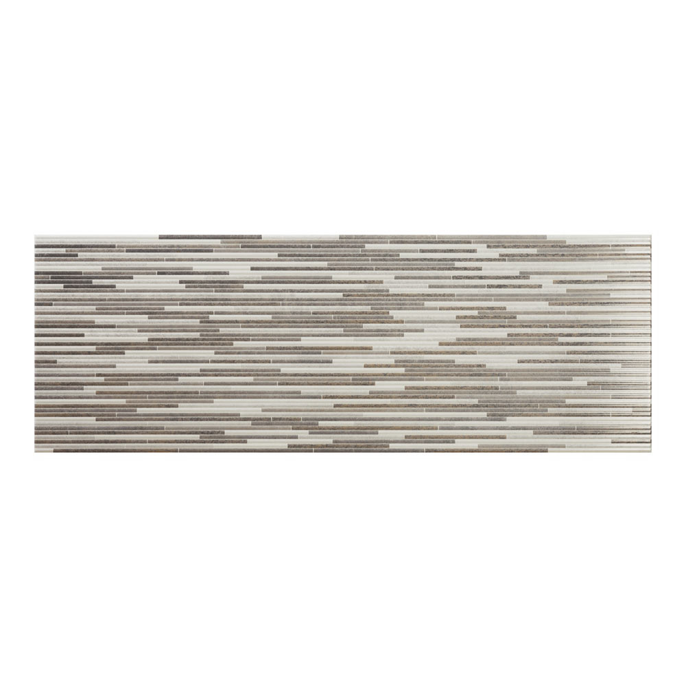 Minnesota Pearl Gloss Decor Wall Tile - 250 x 700mm Large Image