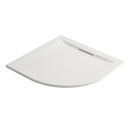 Mira Flight Level Safe 800 x 800mm Anti-Slip White Quadrant Shower Tray