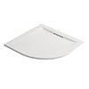 Mira Flight Level Safe 1000 x 1000mm Anti-Slip White Quadrant Shower Tray profile small image view 1