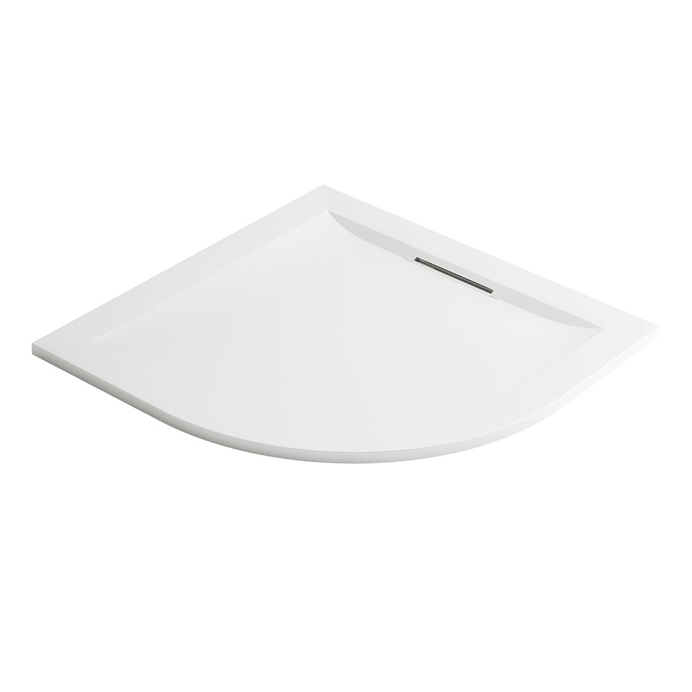 Mira Flight Level 900 x 900mm White Quadrant Shower Tray
