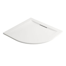 Mira Flight Level 800 x 800mm White Quadrant Shower Tray