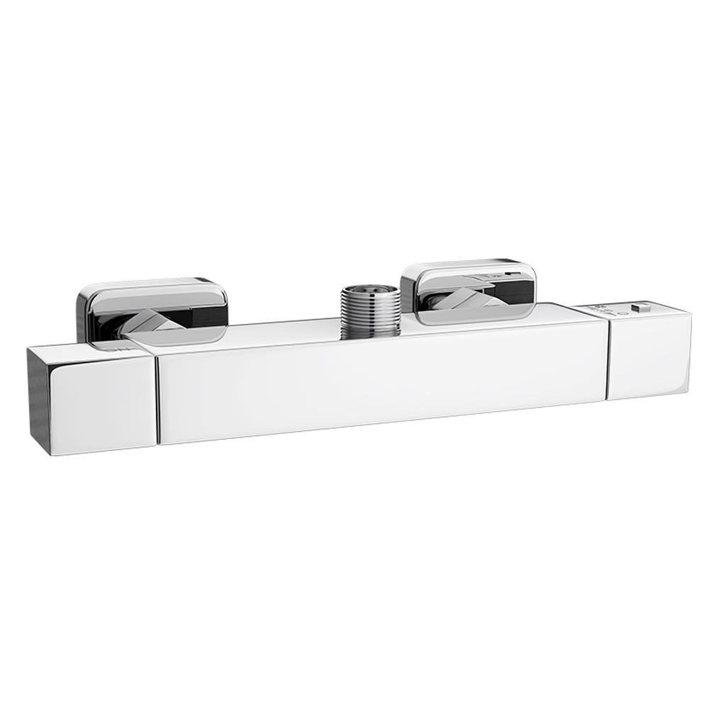 Moda Square Top Outlet Bar Valve - Chrome Large Image