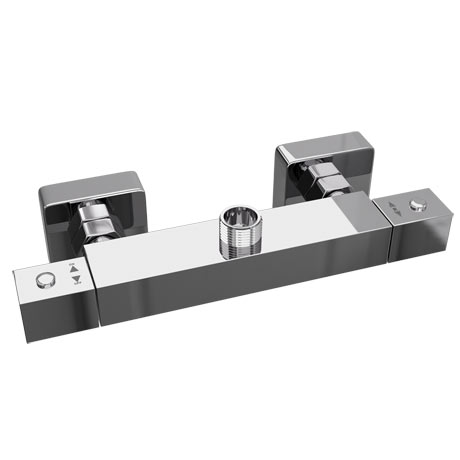 Moda Square Top Outlet Bar Valve - Chrome