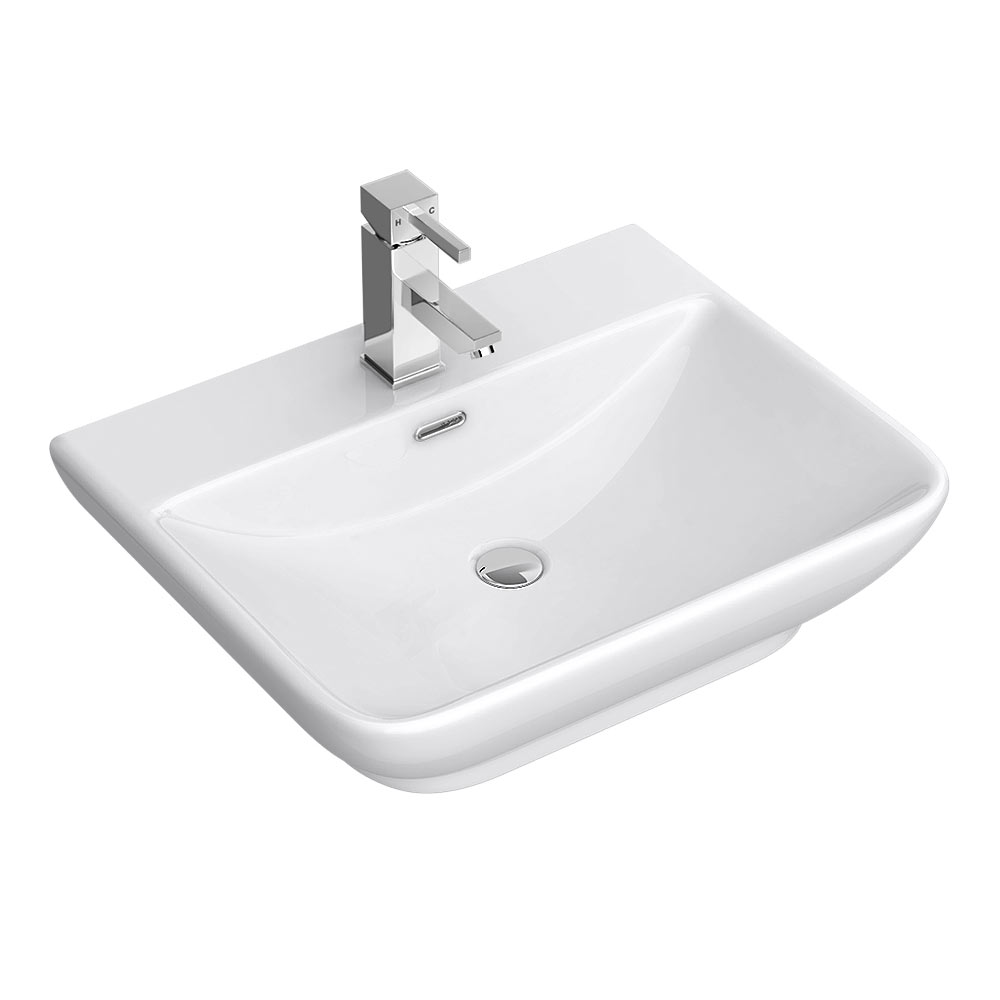 Moda Wall Hung Basin 1TH - 560 x 465mm profile large image view 1
