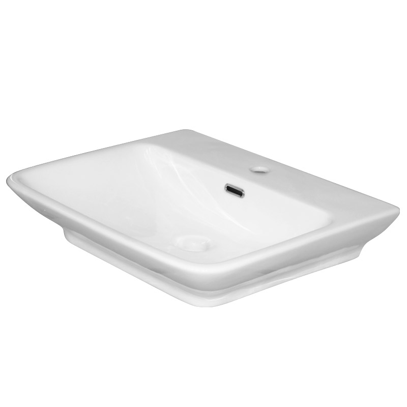 Moda Wall Hung Basin 1TH - 560 x 465mm profile large image view 2