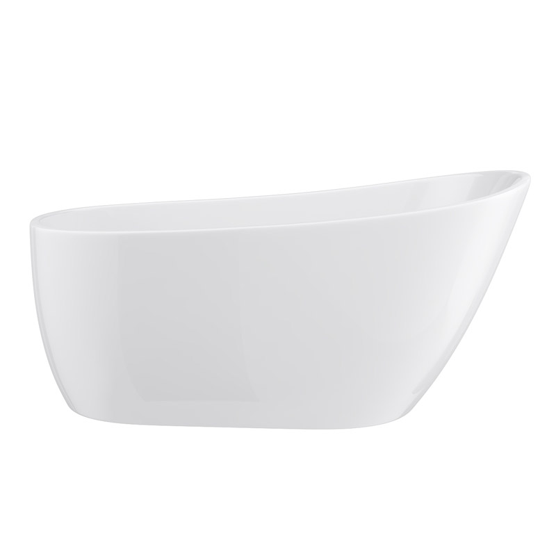 Turin 1520 Small Modern Slipper Free Standing Bath profile large image view 2