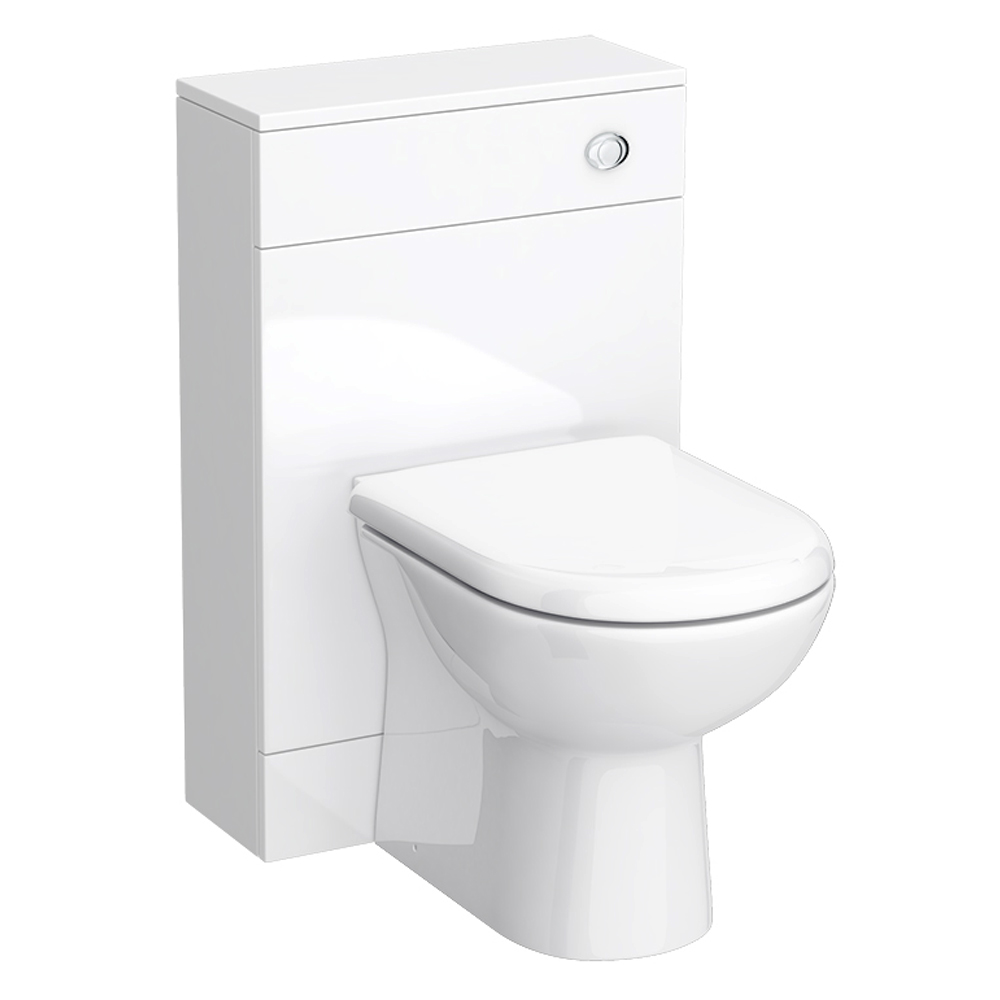Turin 500mm BTW Toilet Unit Inc. Cistern + Soft Close Seat (Depth 200mm) profile large image view 1