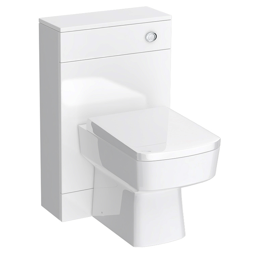 Turin 500mm BTW Toilet Unit inc Cistern & Square Pan (Depth 200mm) profile large image view 1
