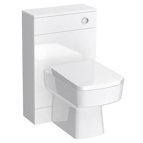 Turin 500mm BTW Toilet Unit inc Cistern & Square Pan (Depth 200mm)