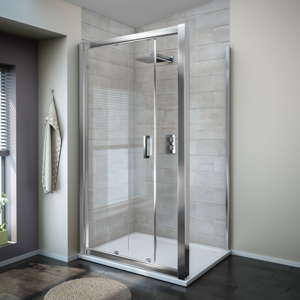 Turin 8mm Rectangular Sliding Door Shower Enclosure - Easy Fit Large Image