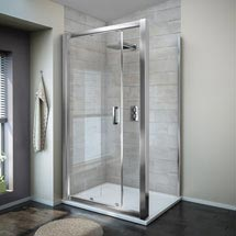 Turin 8mm Rectangular Sliding Door Shower Enclosure - Easy Fit Medium Image