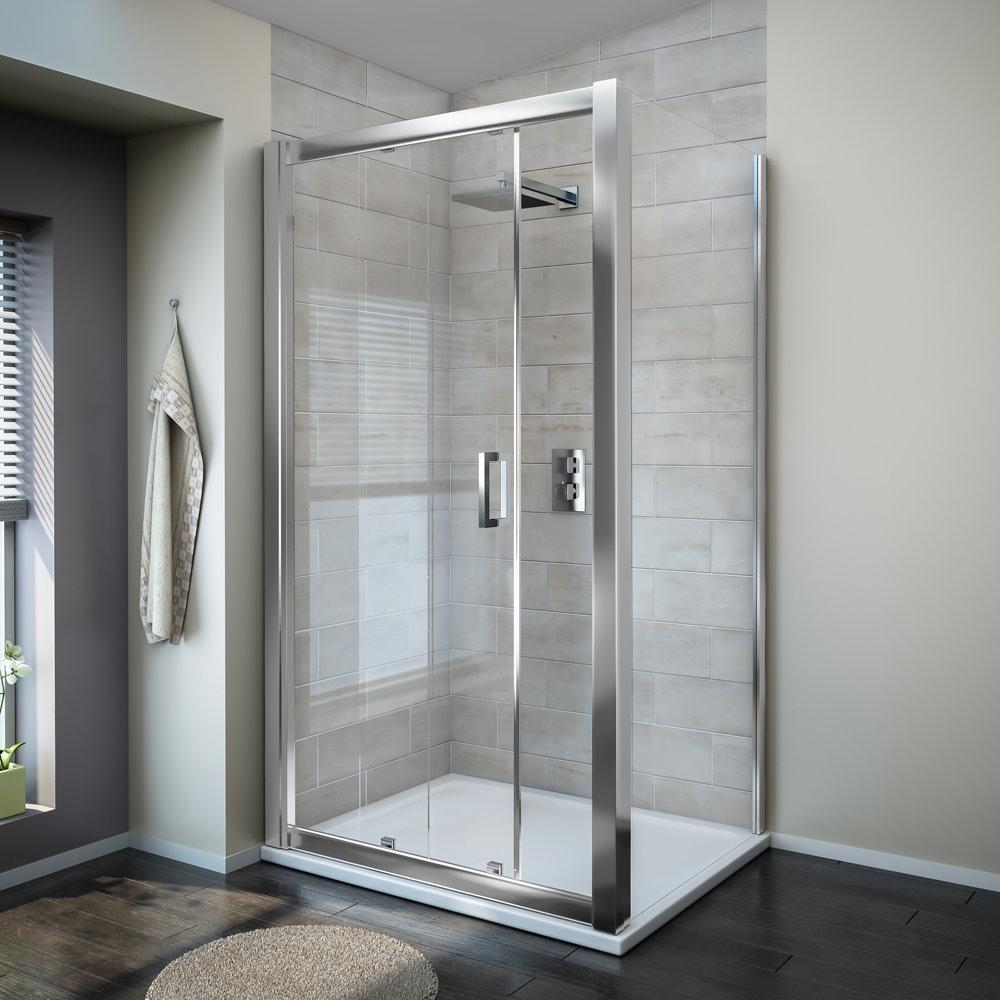 Turin 8mm Sliding Shower Door - Easy Fit Profile Large Image