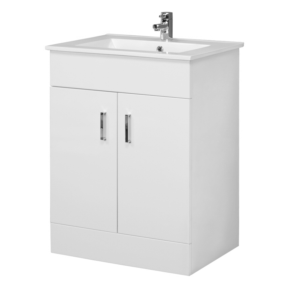 Turin Cloakroom Suite (White Gloss) Profile Large Image