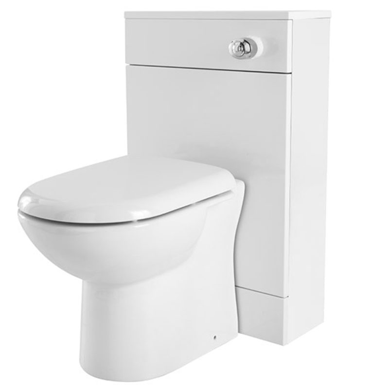 Turin Gloss White Vanity Unit Suite + Single Ended Bath - 3 Bath Size Options profile large image view 3