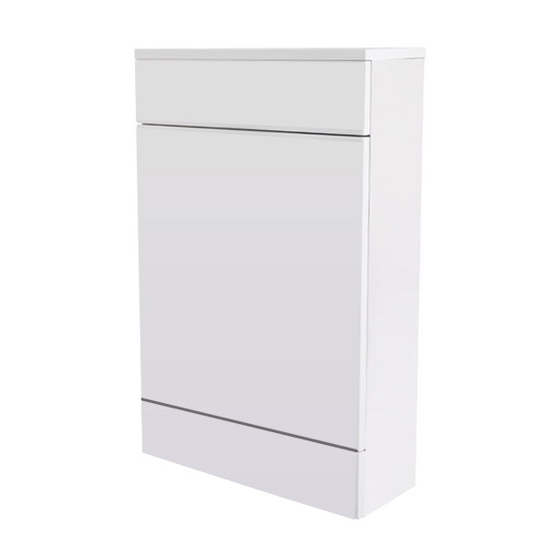 Turin High Gloss White Back To Wall WC Unit W500 x D200mm - VTYW200 Large Image