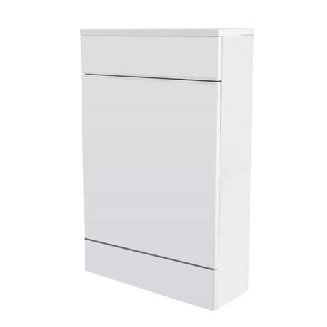 Turin High Gloss White Back To Wall WC Unit W500 x D200mm - VTYW200