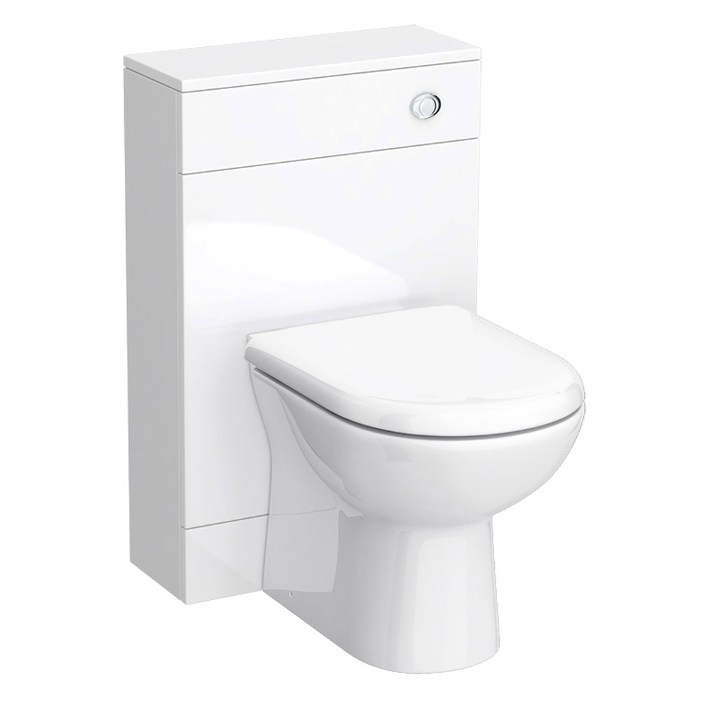 Turin High Gloss White Vanity Unit Bathroom Suite W1500 x D400/200mm profile large image view 4