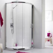 Turin Single Entry Quadrant 8mm Easy Fit Shower Enclosure (860x860mm) Medium Image