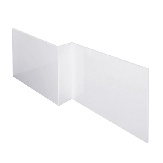 Turin White Offset MDF Front Bath Panel - NMP135 Large Image