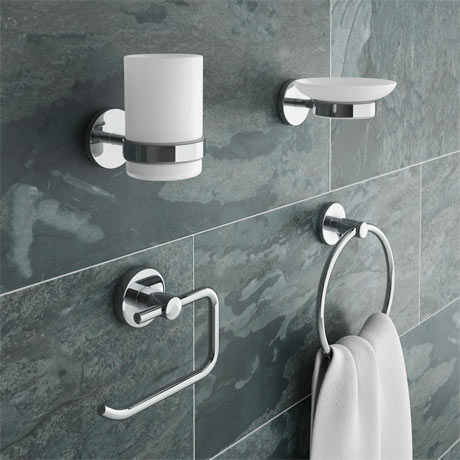Modern 4-Piece Bathroom Accessory Pack