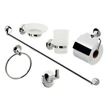 Modern 6 Piece Bathroom Accessory Set Medium Image