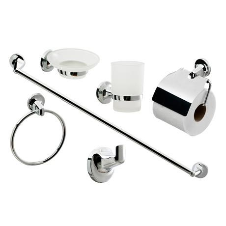 Modern 6 Piece Bathroom Accessory Set
