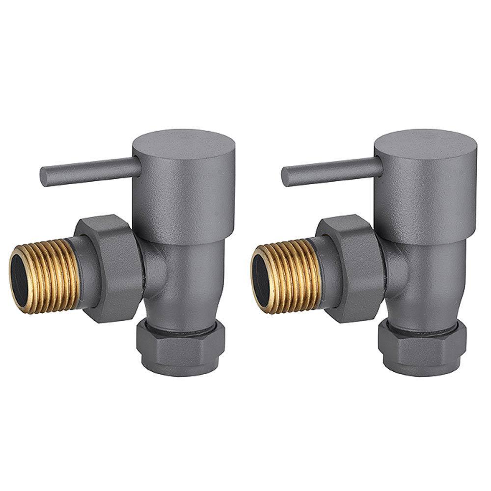 modern anthracite angled radiator valves victorian. Black Bedroom Furniture Sets. Home Design Ideas