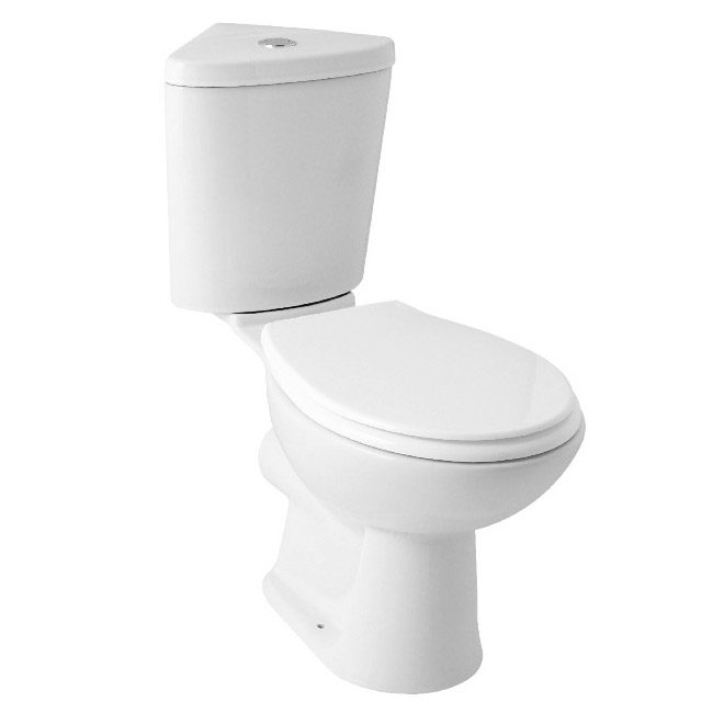 Bermuda Corner Toilet with Soft Close Seat Large Image