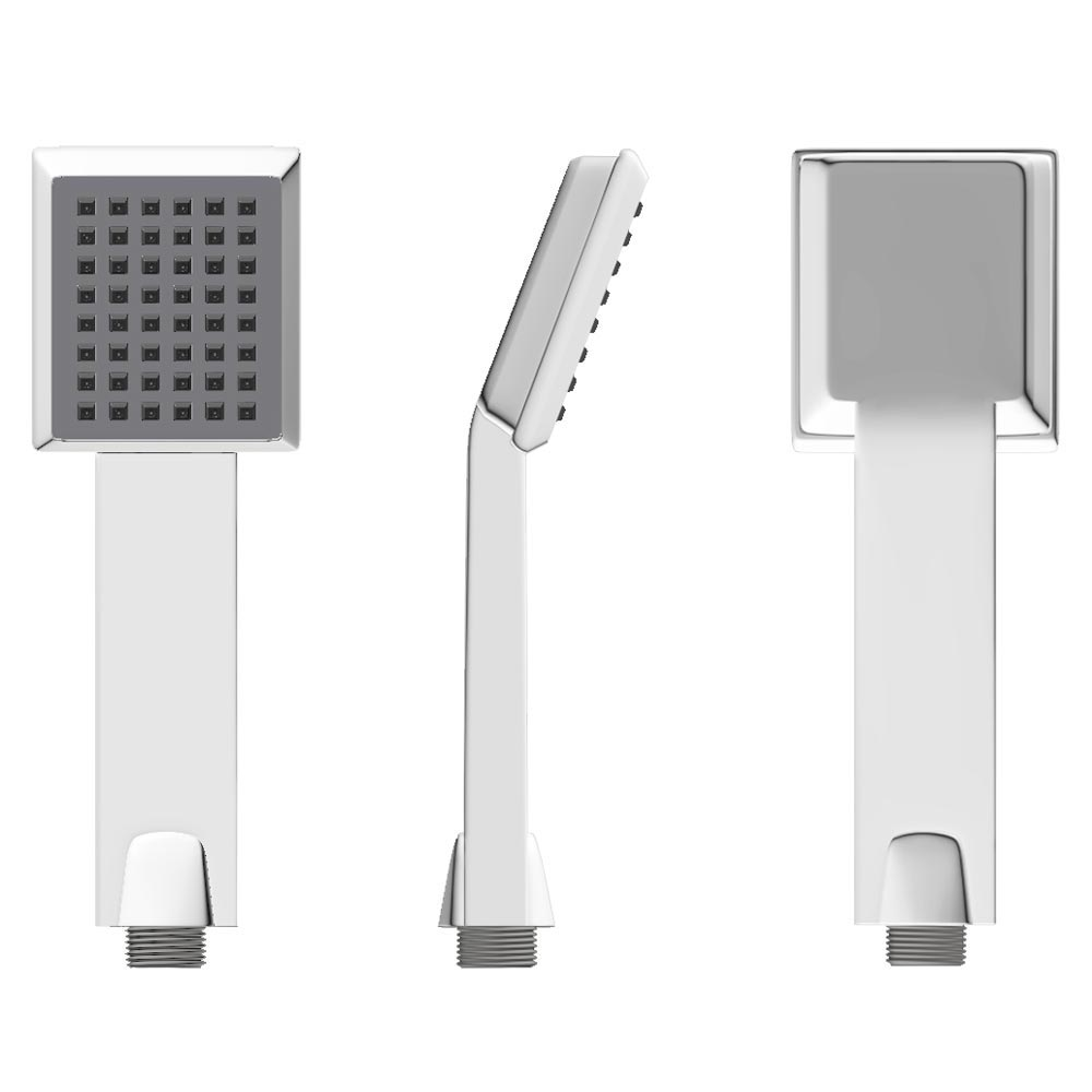 Modern Paddle Shower Handset - Chrome profile large image view 2