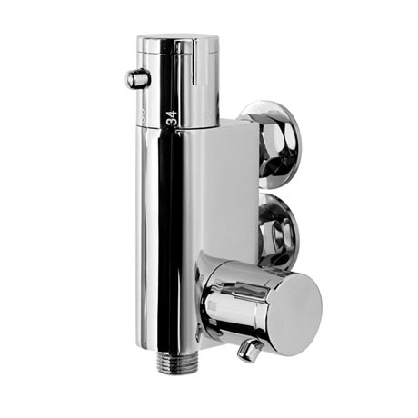 Modern Thermostatic Douche Bar Valve - Chrome