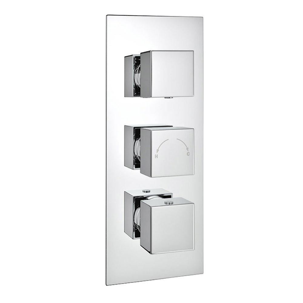 Modern Triple Outlet Shower Pack with Head, 4 Body Jets + Slider Rail profile large image view 5