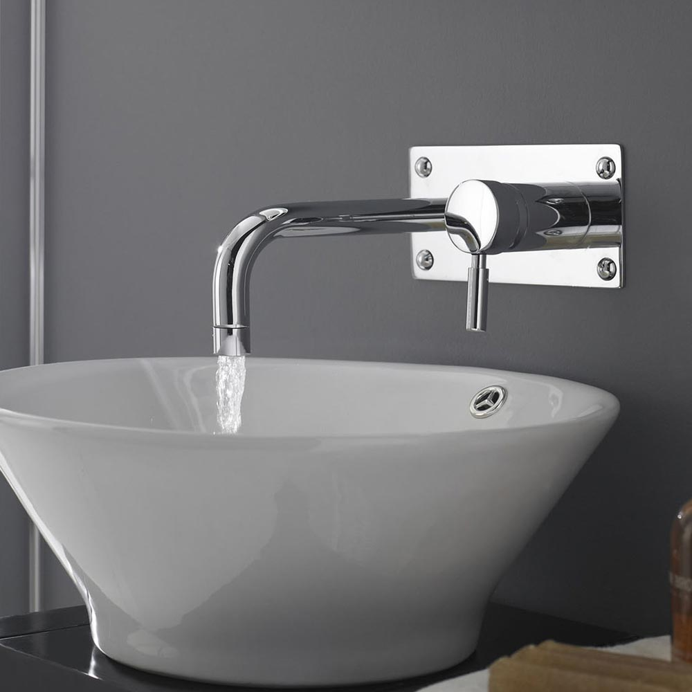 Modern Wall Mounted Tap - Chrome Profile Large Image