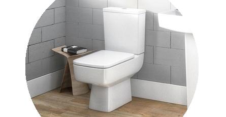 Modern Toilet in Situ