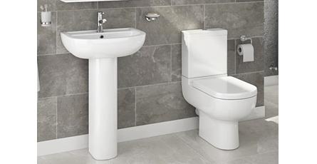 Modern toilet and basin set