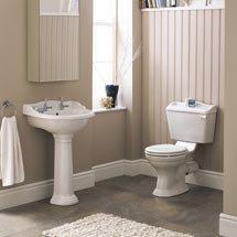 Monaco 4-Piece Traditional Bathroom Suite Medium Image