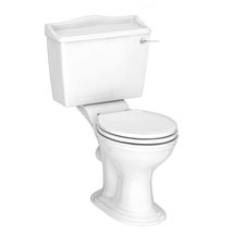 Monaco Traditional Close Coupled Toilet + Soft Close Seat Medium Image