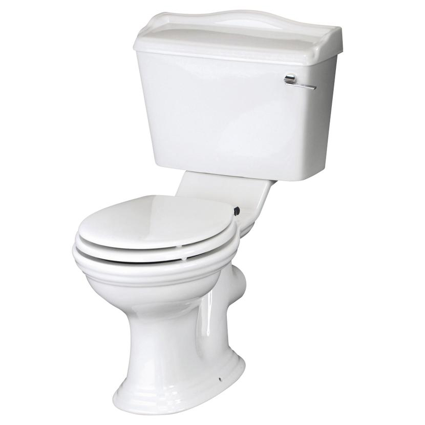 Monaco Traditional Close Coupled Toilet with Soft Close Seat Large Image