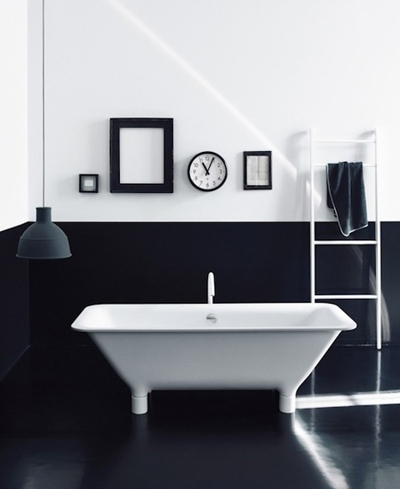 Monochrome bathroom inspiration victorian plumbing for Monochromatic bathroom designs