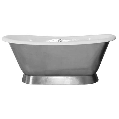 JIG Montreal 0TH Fully Polished Cast Iron Roll Top Bath (1680 x 760mm)