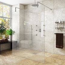 Montreal 8mm Wet Room Screen (Various Sizes) + 2 Support Arms Medium Image