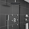 Montreal Modern Shower Package (Fixed Head, Ceiling Mounted Arm, Handset & 6 Body Jets) profile small image view 1