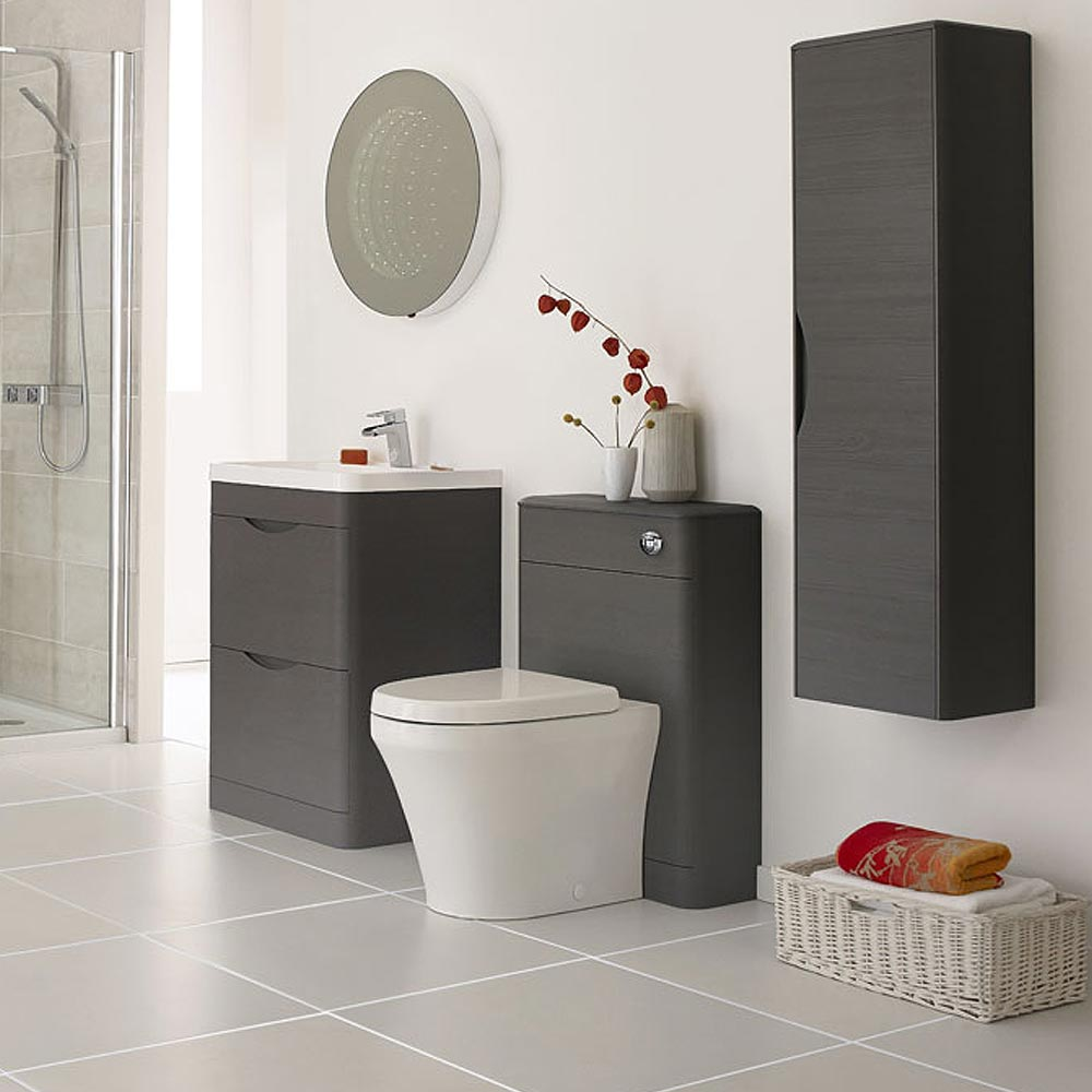 Monza 550mm wide wc unit now available at victorian for 200mm wide kitchen wall unit