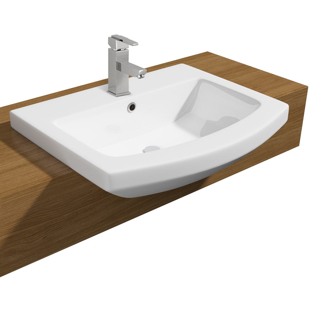 Monza 550mm Semi Recessed Basin   1 Tap Hole Medium Image